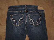 Hollister Size 1L Skinny Dark Blue Stretch Denim Womens Jeans