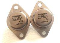 2SD551 + 2SB681 Toshiba Audio Transistors TO-3