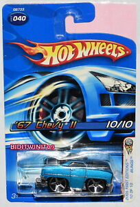 HOT WHEELS 2005 FIRST EDITIONS '67 CHEVY II #040 BLUE