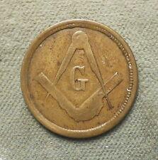 Civil War Patriotic 252/271, brass, 19mm, Rarity-5, vf, Masonic Emblem
