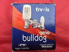 """Pegler Bulldog 1/2"""" X 15MM Thermostatic Radiator Valve & Lockshield 250080"""