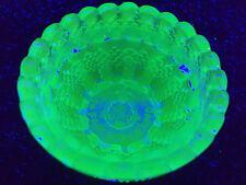 Blue Vaseline Clarke Pyramd glass Fairy lamp votive candle holder uranium Cobalt