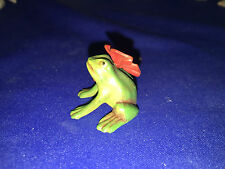 Vienna Bronze  FROG with RED BOW
