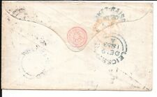 GB POSTAL STATIONERY PINK QV COVER 1853 WEST TANFIELD UNDATED