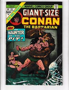 GIANT-SIZE CONAN #2 (FN+) 68 Pages! Robert E. Howard! Classic Bronze-Age Comic