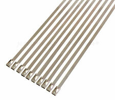 """10 PACK STAINLESS STEEL CABLE TIES WIRE POSITIONING STRAP 6"""""""