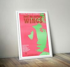 More details for paul mccartney and wings 1972 dutch concert poster reproduction print beatles