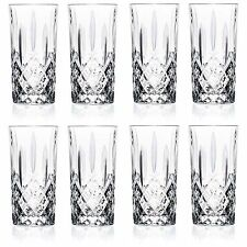 Crystal Highball Glasses Set 8 pc Hi Ball Glass Drinking Cocktail Drink Tumbler