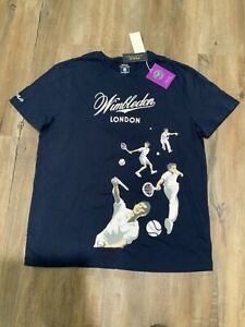 Polo Ralph Lauren Mens Wimbledon The Championship London Official Tee Size XL