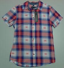 NEW Bauhaus Red Men's Small Short Sleeve Check Shirt RRP $69.95