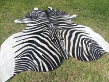 large UNIQUE ! NEW ZEBRA COWHIDE SKIN Rug Print Printed steer COW HIDE DC6108 S1