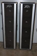 A Pair 2 Two Peavey 4 x 12 PA P.A. Cabinets Columns Indianapolis Indiana Pick-up