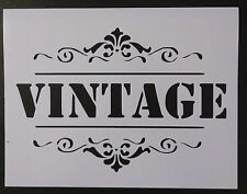 """Vintage Sign Word 11"""" x 8.5"""" Stencil FAST FREE SHIPPING"""