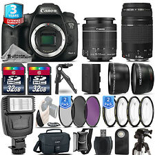 Canon EOS 7D Mark II Camera + 18-55mm STM + 75-300 III + 3yr Warranty - 64GB Kit