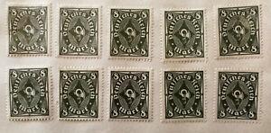 Alemán Deutsches Reich 8 Mark Verde Posthorn Sello 1922