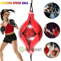 Leather Double End Speed Ball Training Punching Speed Bag Boxing MMA Pear Punch