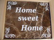 Handmade Art Sandblast wall Hanging HOME SWEET HOME Marble  Gift Curio