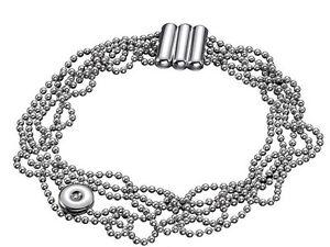 Calvin Klein Jewelry Women Precious 5 Strands Bracelet with White Diamond SMALL