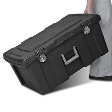 Rolling Large Plastic Storage Box Lid Container Bin Organizer Footlocker Wheels