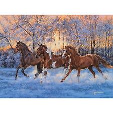 SUNLIT SPLENDOR - HORSES by Kim Penner - 500 piece puzzle - NEW