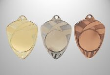 100 Medaillen Ø 50 mm Farbe nach Wahl mit Emblem, Halsband & Beschriftung NEU