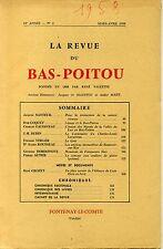 REVUE DU BAS POITOU. 1958 LVRAISON 2