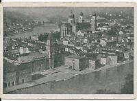 Ansichtskarte Passau - Blick vom Oberhaus auf Rathaus und Dom - schwarz/weiß