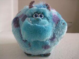 "Disney SULLEY MONSTERS SULLIVAN 7"" Ball Plush Stuffed Animal TY Blue"