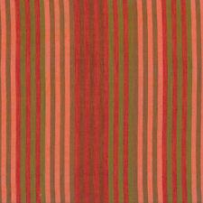 Kaffe Fassett Caterpillar Stripe Tomato Woven Cotton Fabric By The Yard