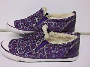 COACH Slip-On Shoes..Purple.. Size 7.5 B