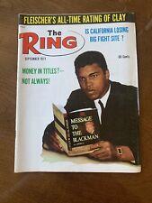 THE RING MAGAZINE MUHAMMAD ALI BOXING HOFer COVER SEPTEMBER 1971