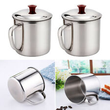 Stainless Steel D Shape Handle Cup Water Mug .Food Capa Noddles Mug MMKK V2C8