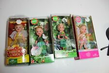 "lot NEW Mattel Barbie Kelly Tommy 4"" dolls fairy holiday party Christmas Carol"