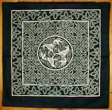 Celtic Circle of Horses Cushion Pillow Cover Green