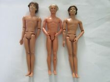 3 mattel nude ken dolls rooted hair 1997 & 2004