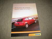 Fiat Stilo in der Fachpresse Prospekt Brochure prospetto von 11/2002, 8 Seiten