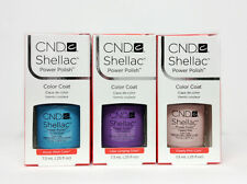 SHELLAC UV GEL- CND -Pick ANY Color/ Base/ Xpress5 Top 7.3ml 25oz - SET OF 3