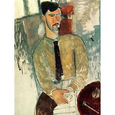 Amedeo Modigliani Henri Laurens Old Master Art Painting Canvas Print