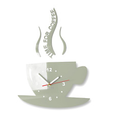 Reloj De Pared Moderno Grande Gris Decoración Hogar Cocina Comedor (CUP)