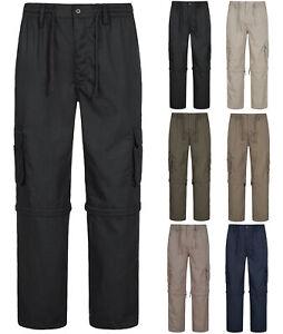 Herren Cargo 2-in-1 Hose / Shorts Zip Off Outdoor Freizeit Arbeitshose ID417 NEU