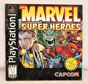Marvel Super Heroes Instruction Manual ONLY PS1 PlayStation 1 Capcom Booklet