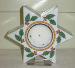 Hutschenreuther Porzellan Louvre Stern Weihnachten Teelichthalter unbeschädigt