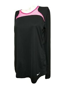 Nike Dri fit Women MEDIUM Athletic Long Sleeve Pull Over Crew-neck T-shirt(#N3