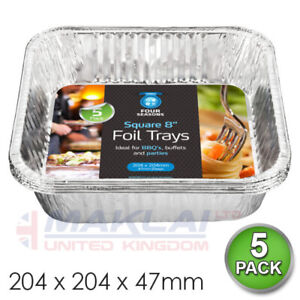 Aluminium FOIL CONTAINERS Hot FOOD Home SERVING Tins Takeaway Baking Roasting