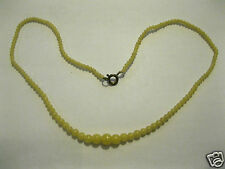 VINTAGE Mini-Halbedelstein Collier hellgelb evtl.Lemon-Jade gelb Kette 42cm 42