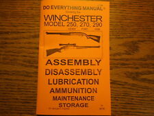 Winchester Model 250 270 and 290 Rifle Manual 33 Pg.