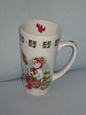 Snowman Coffee Mug Cardinal Bird Seed Apron Presents Graphics Stoneware #HY11