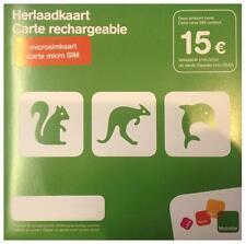 Carte MICRO SIM prépayée Orange avec nouveau numéro et 15€ de crédit d'appel