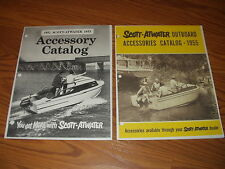 VINTAGE 1952~1953~1955. SCOTT-ATWATER OUTBOARD ACCESSORIES CATALOG.~BOTH *