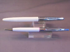 Waterman Cartridge Fill Pen & ball pen set--white and chrome-Made in USA